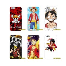 Aksesoris Ponsel Shell Covers untuk iPhone X 4 4 S 5 5 S 5 5C Se 6 6 S 7 8 ditambah Satu Potongan Op Monkey D. Luffy Straw Hat(China)