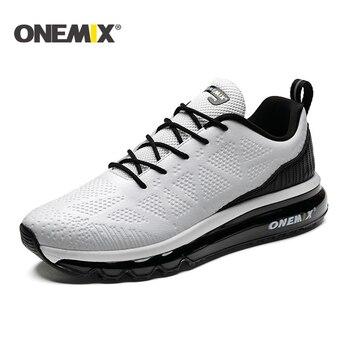 48021330d ONEMIX 2019 новые мужские кроссовки кожаные бегун спортивный кроссовки c  воздушными подушками спортивная обувь для мужчин Уличная прогулочная о.