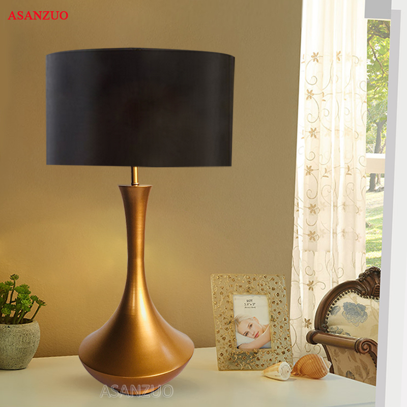 American bedroom table lamp creative simple modern living room study bedside lamp modern personality hotel room decoration lamp цена