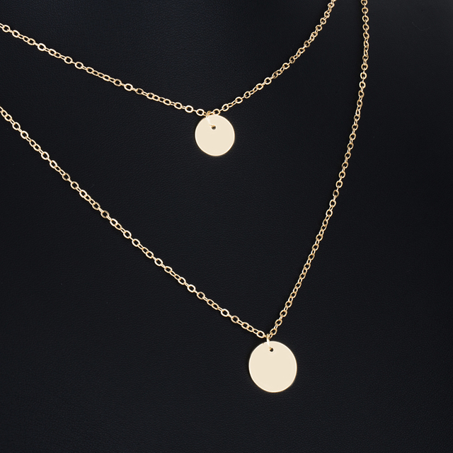 Bohemian Round  Pendant Necklace  Layered Jewelry  5