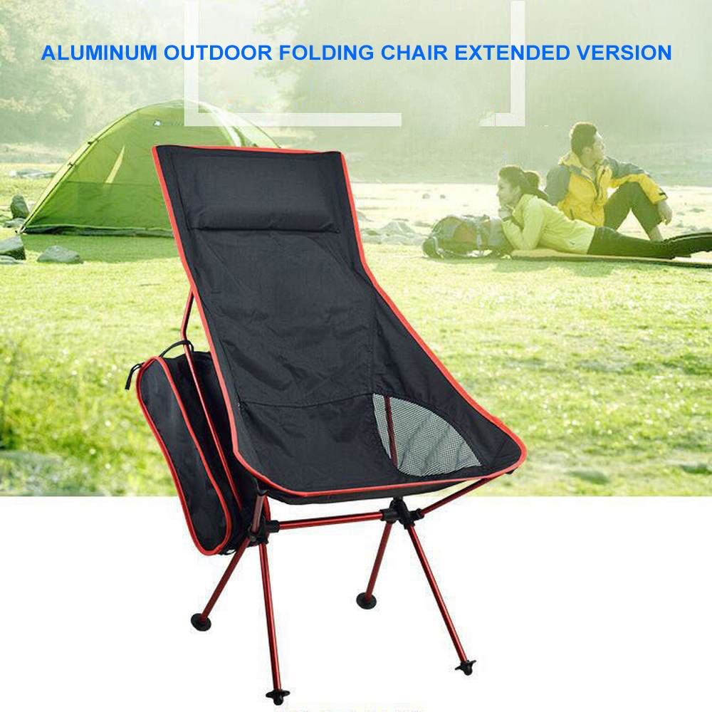 Extended Folding Chair Camping Outdoor Fishing Seat Folding Chair Ultra Light Seat Fishing  BBQ Barbecue Outdoor Supplies