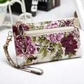 Impresión de la manera de la mujer bolsos de embrague del patrón del pavo real pequeño bolso del teléfono bolsas carteras Embragues bolsos monedero floral envío gratis