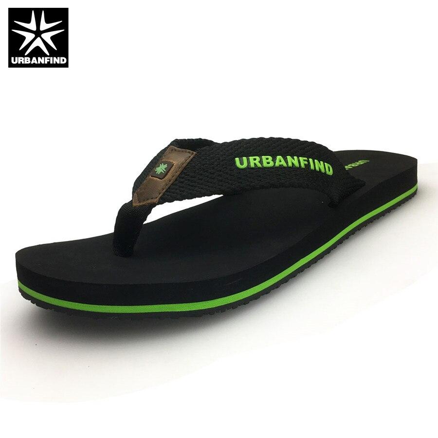 URBANFIND Beach / Home Men Casual Flip Flops Big Size 41-46 Solid Color Man Light Slippers Summer Shoes Black Brown jyrhenium big size 34 46 men s casual