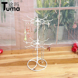 Wholesale Small Hook Hanging Rack Lipstick Necklace Display  Rotating Earrings Jewelry Display Jewel Shelf Metal Structure