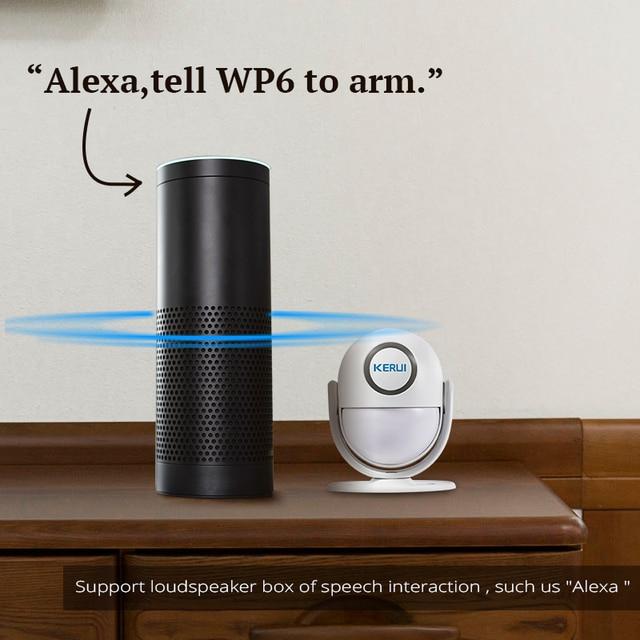 KERUI WIFI Home Security Alarm System Works with Alexa Smart App 120dB PIR Main Panel Door/window Sensor Wireless Burglar Alarm 3