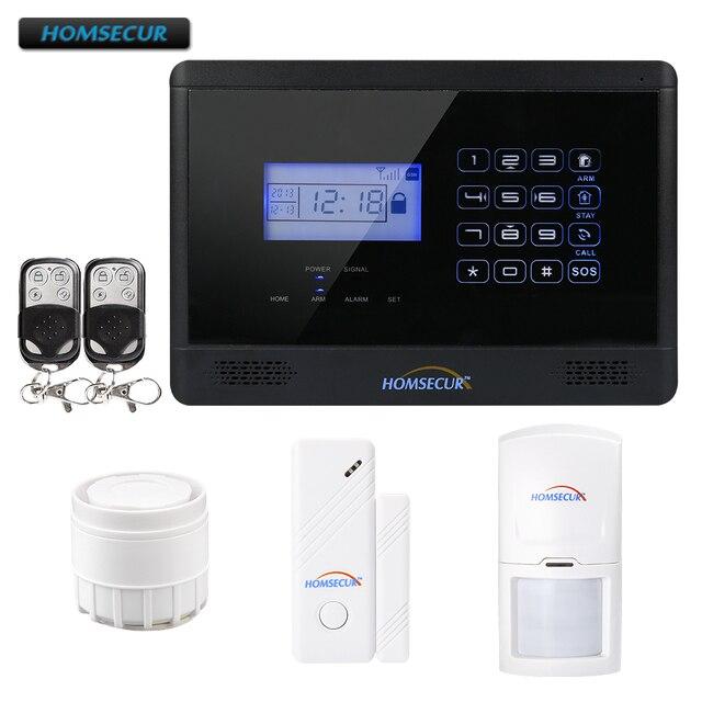 HOMSECUR YA09 (Espanol/Deutsch/Francais/İngilizce Ses) ev Güvenlik Kablosuz GSM Autodial Hırsız Hırsız Alarm Sistemi YA09