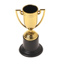 10pcs Golden Cups Trofee Sport Winnaar Educatief Props Kids Beloning Prijzen Speelgoed Sport Medaille(China)