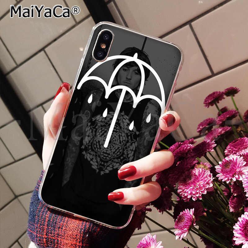 MaiYaCa Me trae el horizonte de goma suave de caso de teléfono transparente para Apple iPhone 7 6 6S Plus X XS MAX 5 5S SE XR cubierta