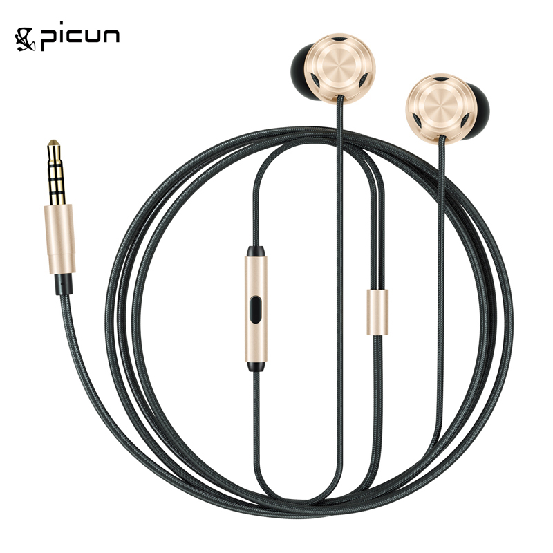 New Picun Earphone In-Ear Earbuds With MIC Magnetic Wired Stereo Super Bass Original Kulakl K Earpieces For Phone Sluchatka 36 new 3 5mm in ear wired earphone