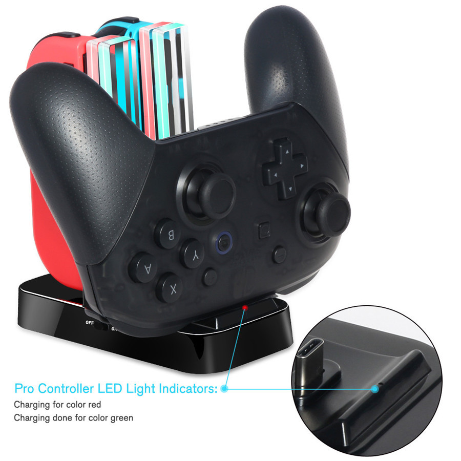 DOBE-ALL-IN-ONE-Switch-Controller-Charging-Dock-Stand-Charger-for-Nintendo-Switch-Joy-Con-Controller