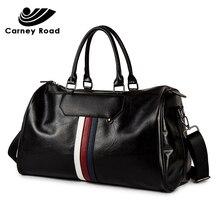 Fashion Leather Men's Travel Bags Waterproof Suitcase Duffel