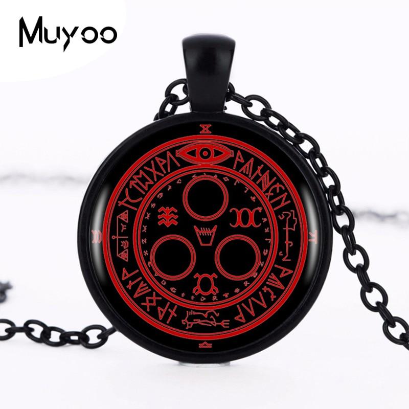 1pcs/lot Hot Sale Silent Hill Halo Of The Sun Logo Pendant Necklace Handmade Vintage Round Black Necklace Women Jewelry HZ1