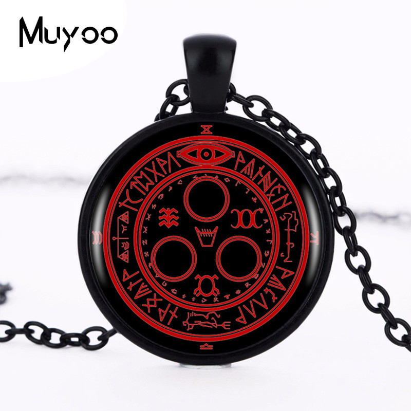 1pcs/lot Hot Sale Silent Hill Halo Of The <font><b>Sun</b></font> Logo Pendant Necklace Handmade Vintage Round Black Necklace Women <font><b>Jewelry</b></font> HZ1 image