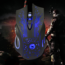 Promotion 6D USB Wired Gaming Mouse 3200DPI LED Optical Ergonomics 6 Buttons Game Pro Gamer Computer Mice for PC Laptop Gamer
