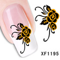 XF nail stickers posted Manicure accessories Manicure watermark Manicure paibi flower XF1295 supplies wholesale