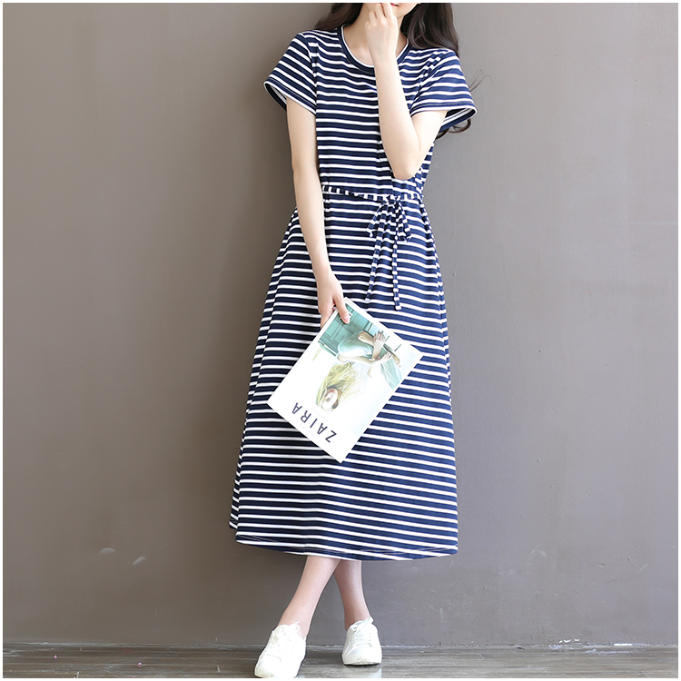 2018 Striped Cotton Pregnant Clothes Short-sleeved Maternity Dress for Pregnant Women Tops long dresses 8991 цена