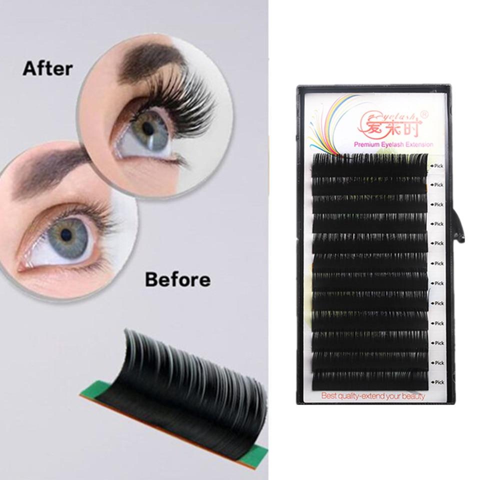 90b4b43aaec Silk Mink Individual Eyelash Extension 100% Handmade Lashes Extension Heat  Resistant Silk Korea Eyelash Extension for Buildings