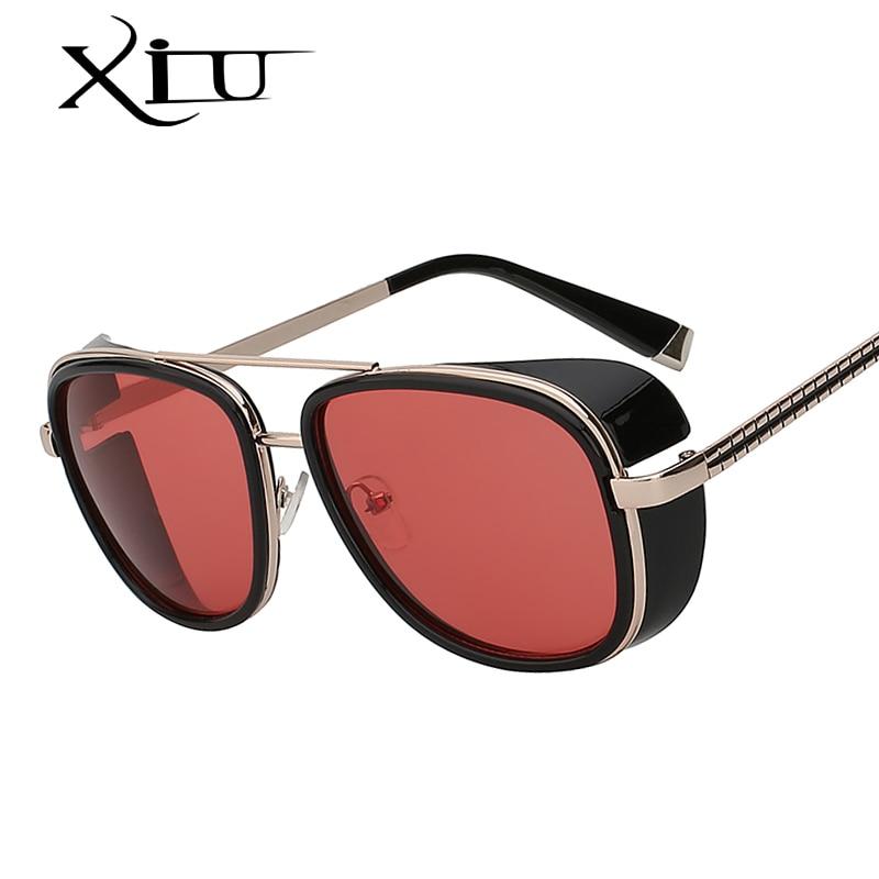 cff7f1c5baba9 XIU Quadrados Óculos De Sol Dos Homens Grife de óculos de Sol Do Vintage  Retro Superstar