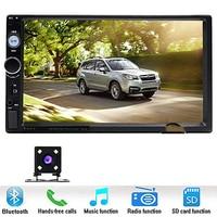 Car Stereo Audio Double Din Radio 7 digital LCD Monitor with rear camera MP3 USB SD AM FM Bluetooth Wireless Remote Control