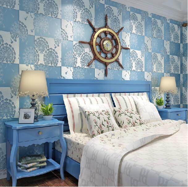 behang slaapkamer blauw ~ lactate for ., Deco ideeën