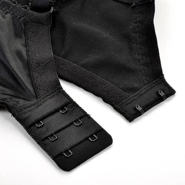 Women's Full Coverage Jacquard Non Padded Lace Sheer Underwire Plus Size Bra 34-44 DD E F G H