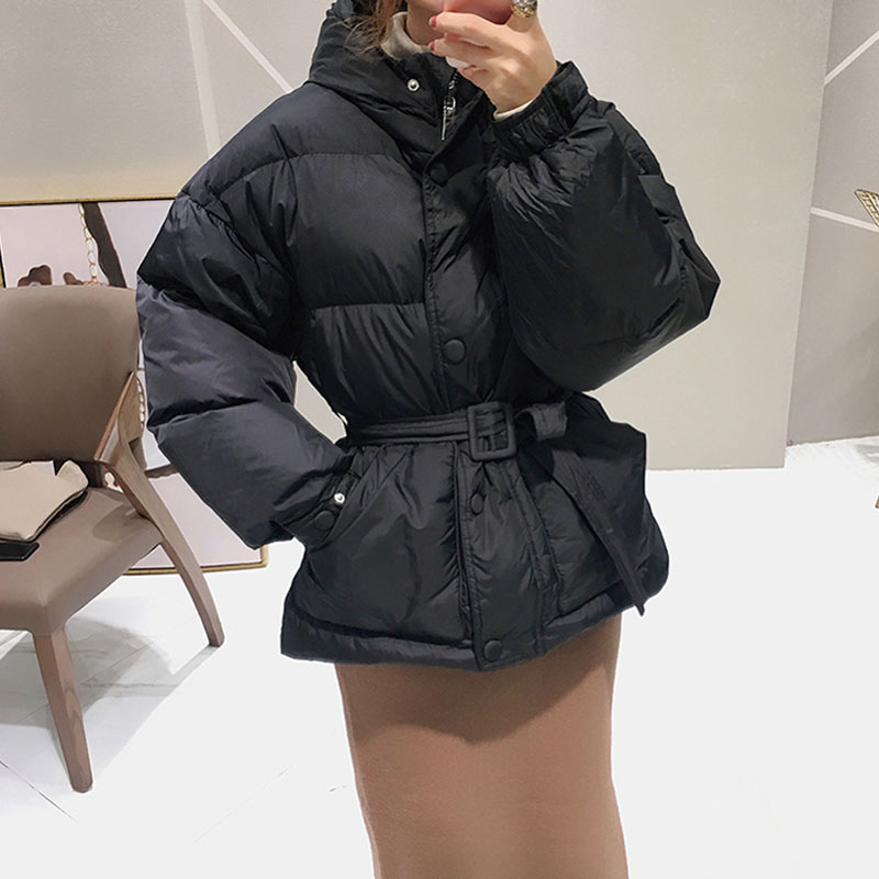 90% White Duck   Down     Coat   Female Winter 2017 Winter Jacket Women Warm Thicken Women's Parka Short Slim Feather Hooded Outerwear