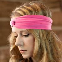ספורט נשים ריצת כורכת שיער סרטי ראש נמתח צלב שיער בנד בארה 'ב (חבילה של 6)