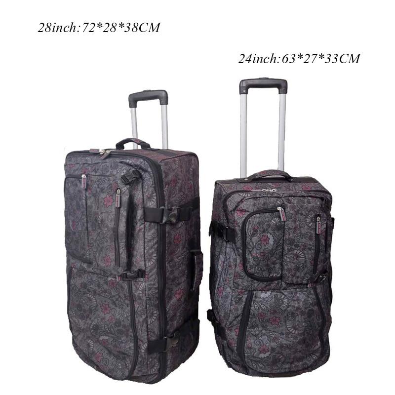 Large-capacity Suitcase Waterproof Travel Bag Rolling Luggage Oxford Bag Trolley Case Men's 24