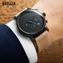 BAOGELA Chronograph Mens Watche Top Brand Luxury Quartz Wrist Watches Round Dial Children Wristwatch 1705