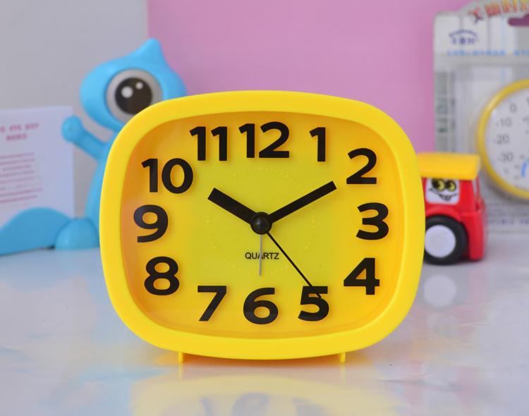 ultra silencioso preciosa mesa despertador del escritorio para nios nios nios nias rojo amarillo