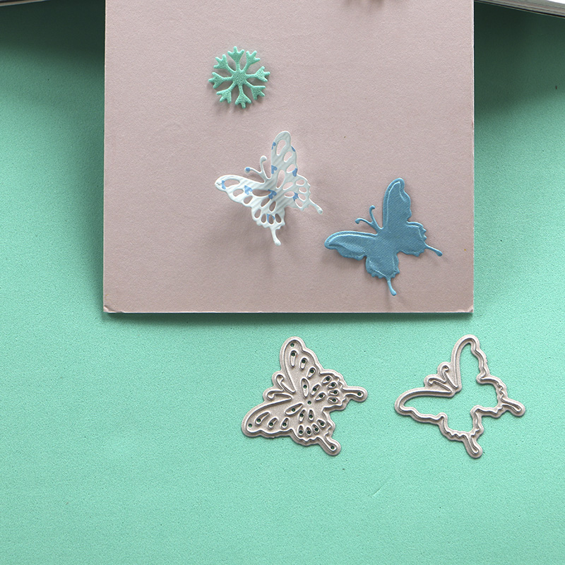 US $1 85 |DUOFEN METAL CUTTING 010003SS 2pcs Small size combo Butterflies  stencil for DIY papercraft projects Scrapbook Paper Album-in Cutting Dies