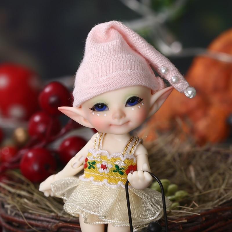 Realpuki Pupu FreeShipping Fairyland FL BJD Doll 1 13 Pink Smile Elves Toys for Girl Tiny