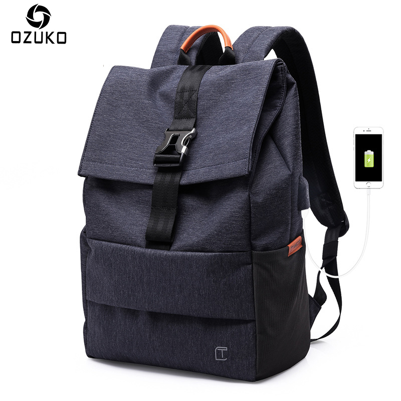 616061640a6c 2018 Новая мода Для мужчин рюкзак тенденция Колледж студент Повседневное  Школьные ранцы USB зарядки 15 дюймов ноутбук рюкзак мужской Mochila