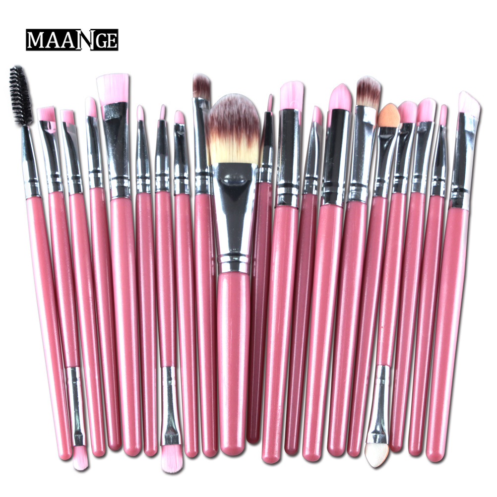 20Pcs/set Face Contour Eye Makeup Brushes Set Eyeshadow Concealer BB Cream Blending Powder Foundation Lip Eyeliner Cosmetic Tool 7 pcs cosmetic face cream powder eyeshadow eyeliner makeup brushes set powder blusher foundation cosmetic tool drop shipping