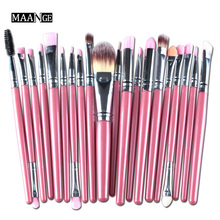 20Pcs/set Face Contour Eye Makeup Brushes Set Eyeshadow Concealer BB Cream Blending Powder Foundation Lip Eyeliner Cosmetic Tool