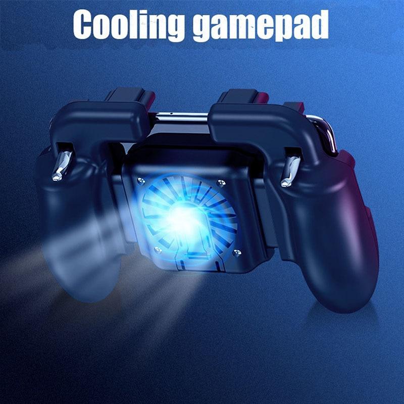Mobile Gaming GamePad Cooler Cooling Fan Free Fire PUBG Mobile phone Game Controller PUBG Gamepad Joystick Metal L1 R1 Trigger