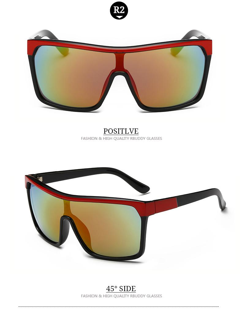 6435df3b3c RBUDDY Fashion Brand Designer Square Flat Top Sun Glasses Men Male Hip Hop  Cool Sunglasses oculos de sol Sport Sunglasses UV400
