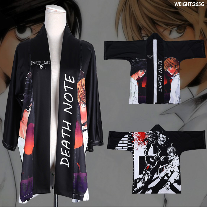 Anime Death Note Kira Ryuuzaki Cosplay clothing Costumes chiffon cloak Fans OUENDAN unisex clothes party wearing best gift anime death note kira ryuuzaki cosplay clothing costumes chiffon cloak fans ouendan unisex clothes party wearing best gift