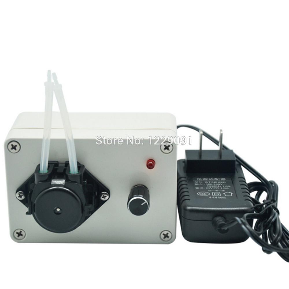 adjustable flow small liquid peristaltic pump 24v tube metering pump dosing pump 5w