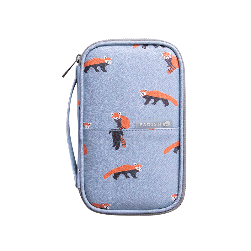 050 Passport protection air ticket collection certificate folder waterproof multifunctional travel zipper storage bag 13 2 22cm in Storage Bags from Home Garden