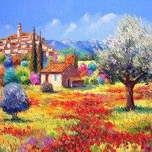Oneroom разноцветная цветочная картина с изображением моря ручной работы Рукоделие Вышивка DIY DMC наборы вышивки крестиком ремесла 14 CT без рисунка дома