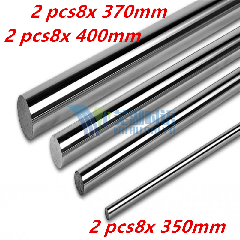 8mm smooth rod  linear shaft set : 2 x 370mm ,2 x 400mm , 2 x 350mm  for 8mm linear shaft LM8UU CNC parts 3D printer parts 8mm linear shaft group 33pcs l350mm 33pcs l405mm 33pcs l420mm for 8mm rod shaft lm8uu