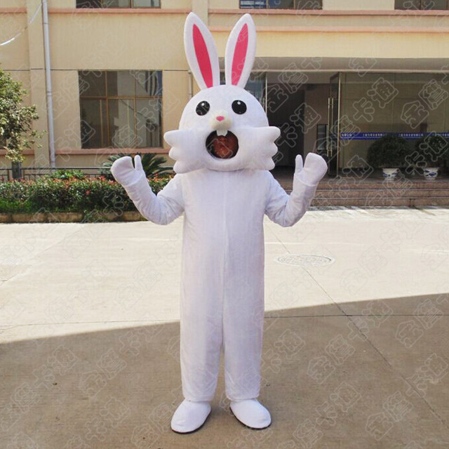 Rabbit Mascot Easter Bunny Mascot Costume Suits Rabbit Cosplay Party Game Dress Outfit Adults