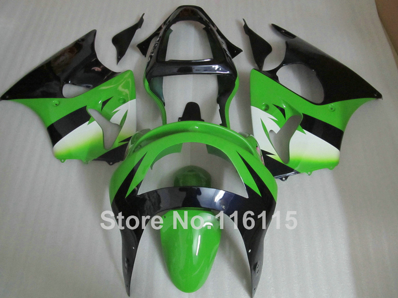 Motorcycle parts for Kawasaki ZX6R 1998 1999 white green black Ninja 636 ZX 6R 98 99 plastic fairings set PP15