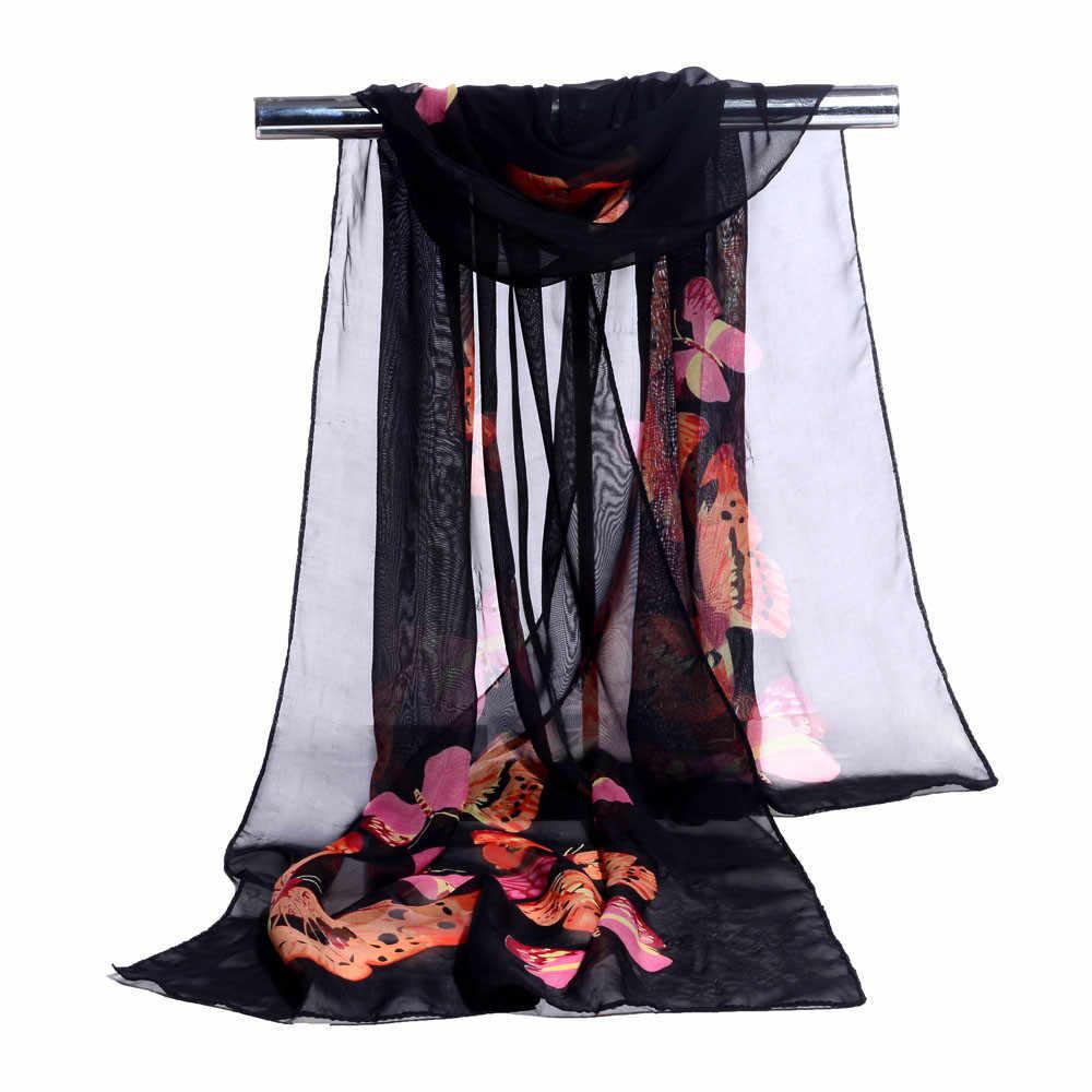 女性のスカーフファッション女性ロングソフトラップスカーフ女性ショールシフォンスカーフ新春新人デザイナーエレガントな Scarve