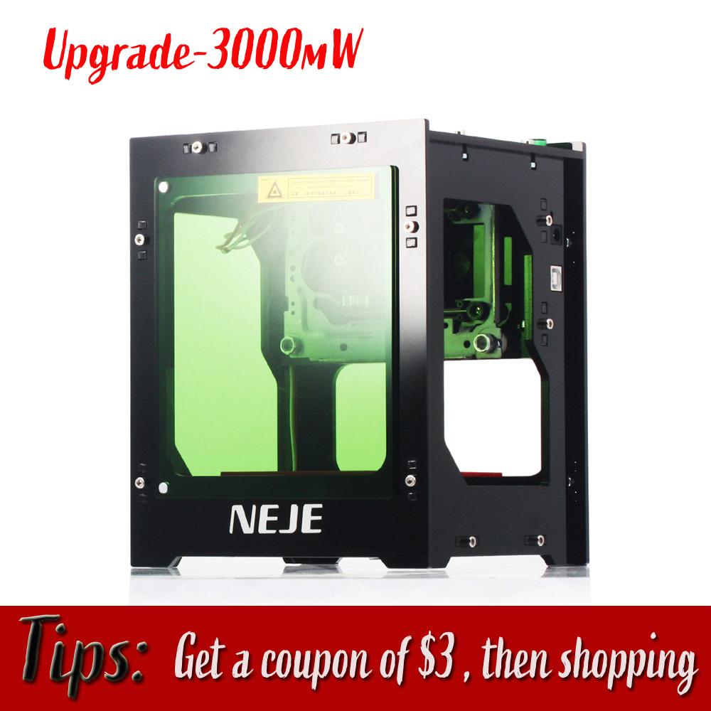 Mise à niveau NEJE DK-8-KZ 3000 mW professionnel automatique bricolage bureau Mini CNC Laser graveur gravure bois Machine de découpe routeur