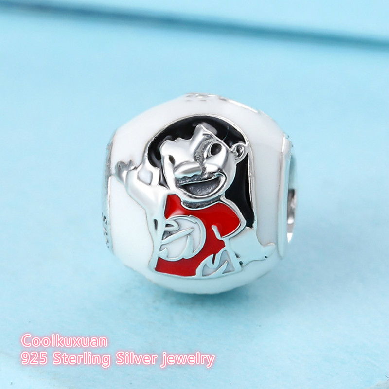 Image 3 - 2017 Winter Original 925 Sterling Silver Lilo & Stitch Charm, Mixed Enamel Beads Fit Pandora Charms Bracelet Diy Jewelry Making-in Beads from Jewelry & Accessories