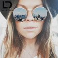 DOLCE VISION Female Vintage Round Sunglasses Women Silver Mirror Sun Glasses For Women Brand 2017 Retro Lunette Oculos Ladies