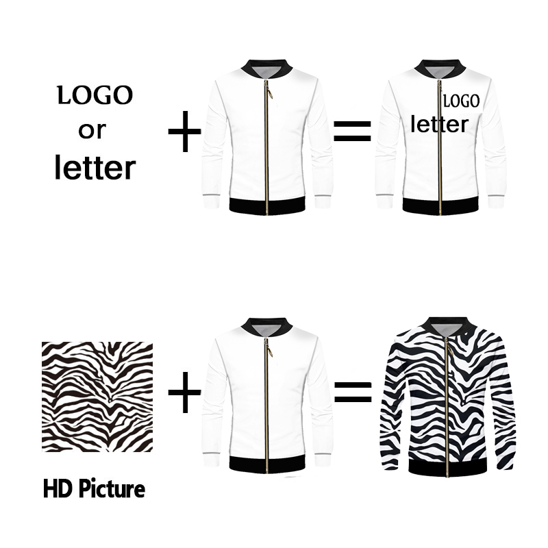 Custom Jacket Windbreaker DIY Print Your Own Design LOGO 3D