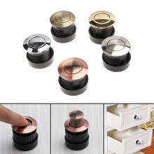 Modernized Concealed Door Handles Zinc Alloy Knob Invisible Embedded Modern  Simple Cabinet Drawer Cupboard Pulls Knobs 5Colors